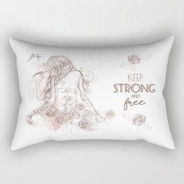 Keep Strong and Free Rectangular Pillow