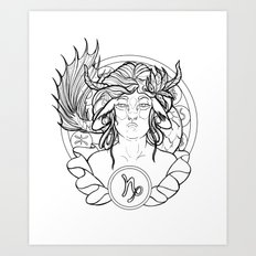 Zodiac Series | Capricorn Art Print
