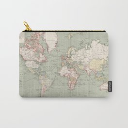 Vintage Map of The World (1915) Carry-All Pouch