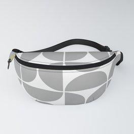 Mid Century Modern Geometric 04 Grey Fanny Pack