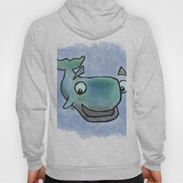 Whale Watercolor Hoody