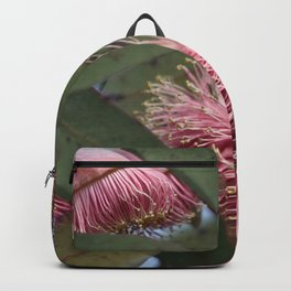 Native Gum tree and pink flower of summer  Backpack