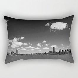 NYC Skyline B&W Rectangular Pillow