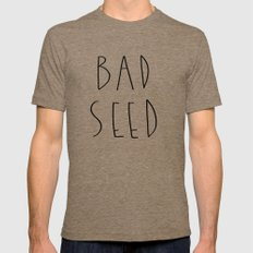 BAD SEED Mens Fitted Tee Tri-Coffee SMALL