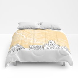Tbilisi Georgia Skyline Map Comforters