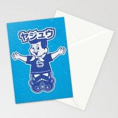 Totem: Mascot & Street Trooper (Navy Cyan) Stationery Cards