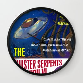 """""""The Sinister Serpents of Saturn VI"""" Movie Poster Wall Clock"""