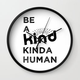 BE KIND | BLACK Wall Clock