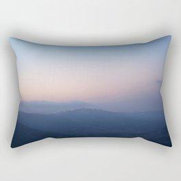 Blue Hills at Sunset Rectangular Pillow