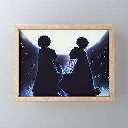 Attack On Titan Silhouette Framed Mini Art Print