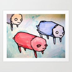 herd of pups Art Print