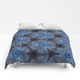 Shining Blue Butterflies Comforters