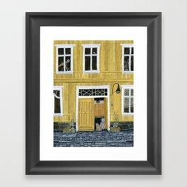 Yellow building Framed Art Print