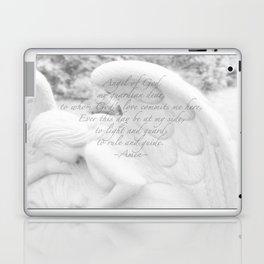 Guardian Angel Prayer | White Angel | Religious Art | Baptism | First Communion Laptop & iPad Skin