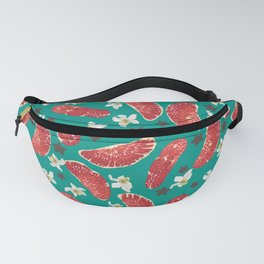 Grapefruit stars with flowers Fanny Pack