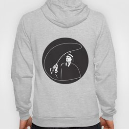 Mobster Suit Tie Casting Fly Rod Circle Retro Hoody