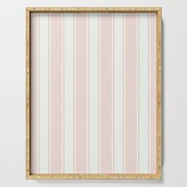 Vintage pastel pink stripes pattern Serving Tray