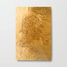 Sherlock - Gold Metal Print