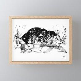 Headlamp Hustle Framed Mini Art Print