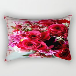 Hearts And Flowers Rectangular Pillow
