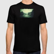 Vintage Landscape  - JUSTART © Black Mens Fitted Tee MEDIUM