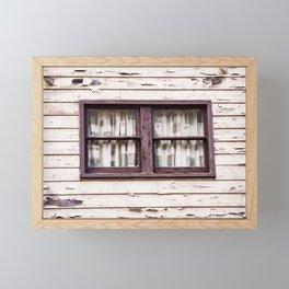 Window. Downieville. California. USA Framed Mini Art Print