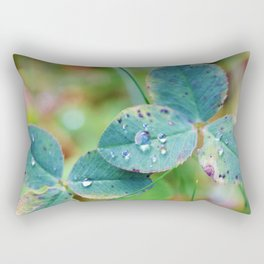 Clover leaves with rain drops Rectangular Pillow