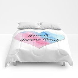 Have a happy heart Comforters