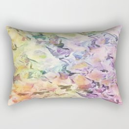 Vintage Soft Pastel Floral Abstract Rectangular Pillow