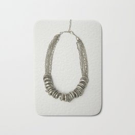 Mongolian silver necklace Badematte