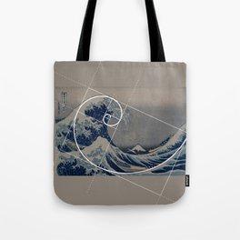 Hokusai Meets Fibonacci Tote Bag