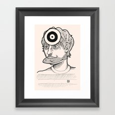Fish'n'target Framed Art Print
