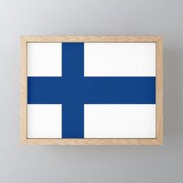Flag of Finland 1 -finnish, Suomi, Sami,Finn,Helsinki,Tampere Framed Mini Art Print