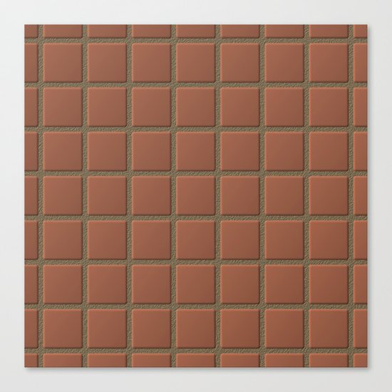 Terra Cotta Tiles with Sandy Grout Canvas Print