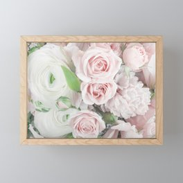 Pastel Pink Flowers Framed Mini Art Print