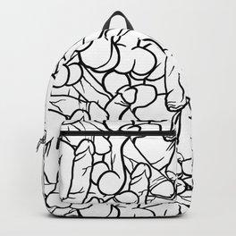 Schlong Song in White, All the Penis! Backpack
