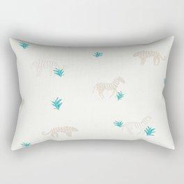 Tigers and Zebras Rectangular Pillow