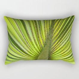 Green Palm Leaf Tropical Jungle Plant Rectangular Pillow