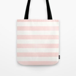 Pink Coral Stripes Tote Bag