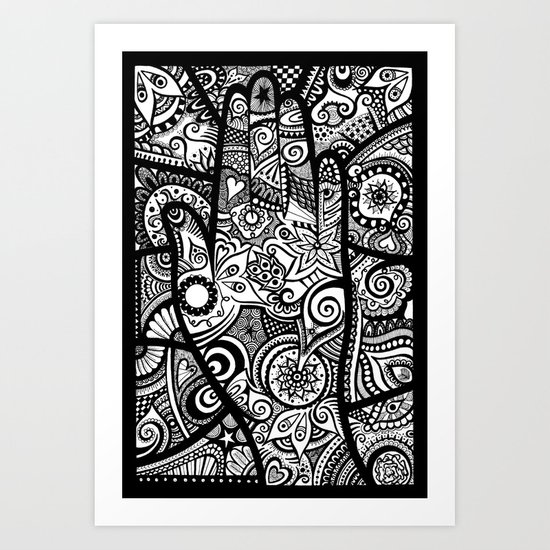 The hand of righteousness Art Print
