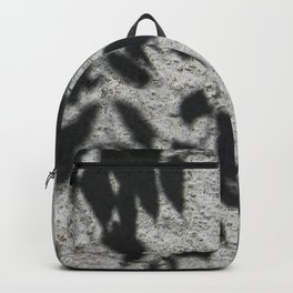 Grey shadows of green leaves Backpack