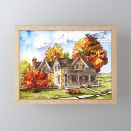 October on the Farm Framed Mini Art Print