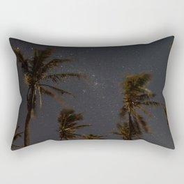 Milky Way Palm Trees Rectangular Pillow