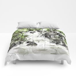 Abstract falls Comforters