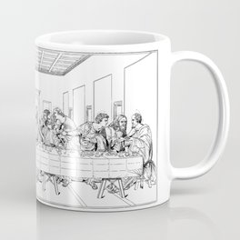 Last Supper Outline Sketch Coffee Mug