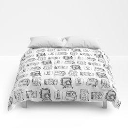 Vintage Camera Pattern Comforters
