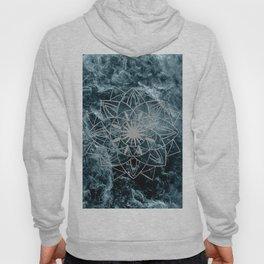 Star Mandala on Enigmatic Deep Blue Ocean Marble #1 #decor #art #society6 Hoody