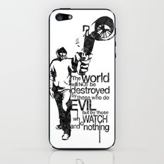 Anonymous and typography quote iPhone & iPod Skin
