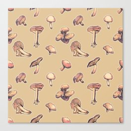 Fungi pattern Canvas Print