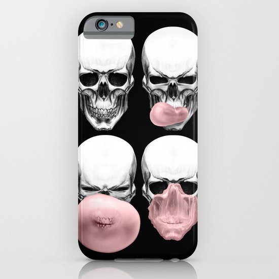 Skulls chewing bubblegum iPhone & iPod Case